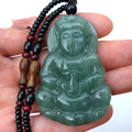 Natural jade guanyin a male money cargo oil kind of necklace with medallion blue ice jade guanyin pendant