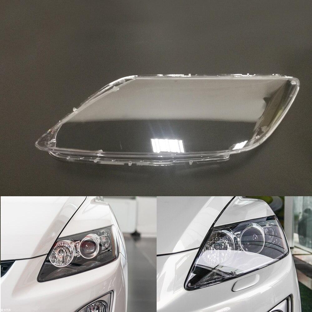 Pour Mazda CX-7 phare de voiture phare clair lentille Auto coque couvercle côté conducteur et passager