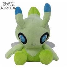 18CM Green Celebi Plush Dolls Anime Spirit Pocket Monster Soft Stuffed Animals Plush Toys Baby Boy Girl Birthday Christmas Gift