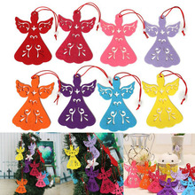 12 Pcs / Lot Christmas angel tree pendant ornaments Navidad Xmas Hanging Gift for Santa Tree christmas decorations home 2016