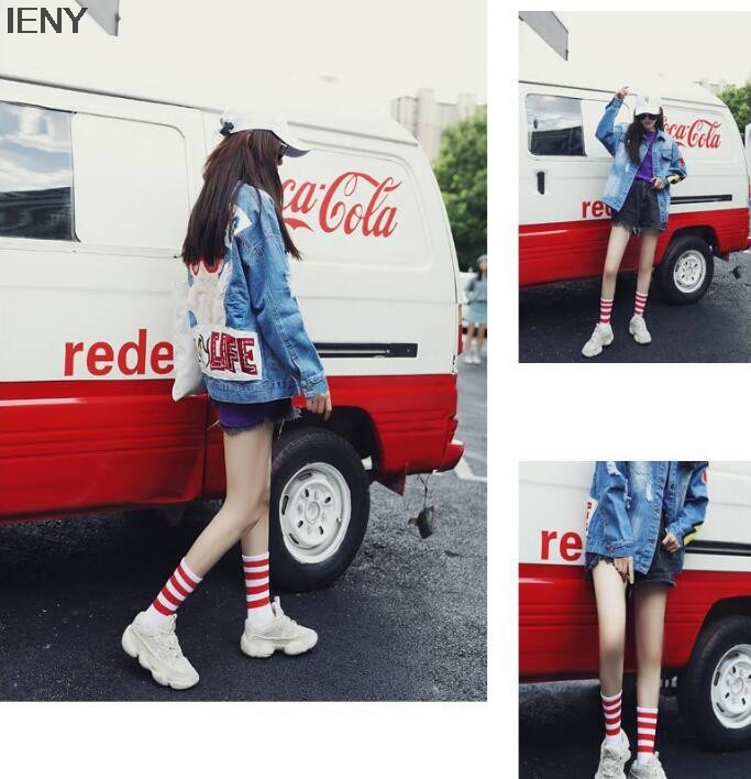Striped Four Bars Female Trend Korean Version Of The Socks College Wind Europe And The United States Small Fresh Socks 10pairs
