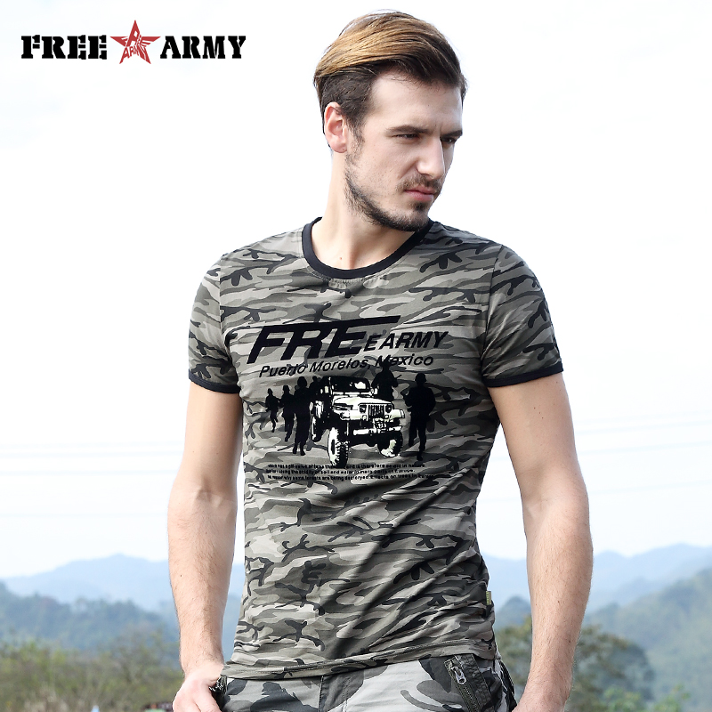 T Shirt Men Brand Printing Camouflage Summer Fashion Man Camo Cotton Clothing Short Sleeve Military Casual Tshirts Male Tees Top