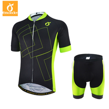EMONDER Men's Pro Team Cycling Jersey And Bib Shorts 4D Gel Pad Custom Bicycle Set High Quality Italy Non-slip Off Cuff And Leg