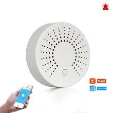 Умная Wi-Fi пожарная сигнализация датчик дыма беспроводной детектор дыма для автоматизации домашняя система охранной сигнализации Smart life Tuya Smart APP