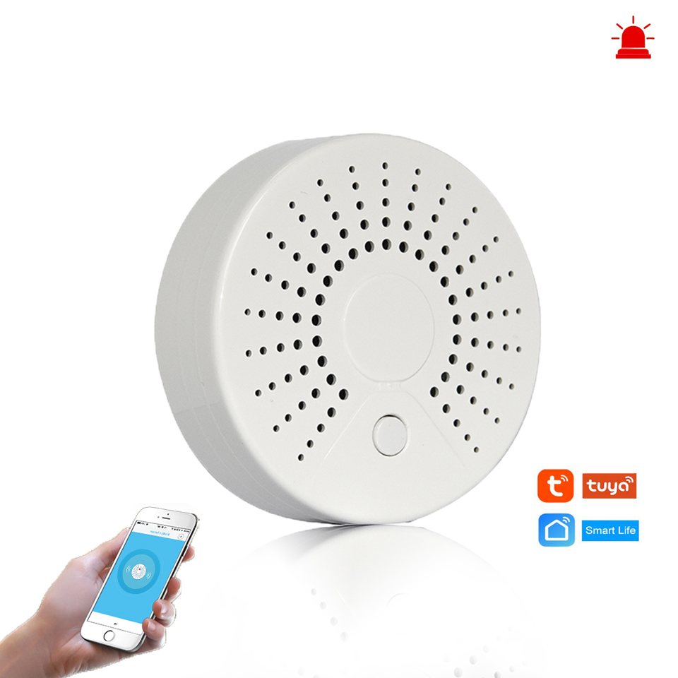 Smart Wifi Fire Alarm Smoke Sensor Wireless Smoke Detector For Automation Home Security Alarm System Smart Life Tuya Smart APP