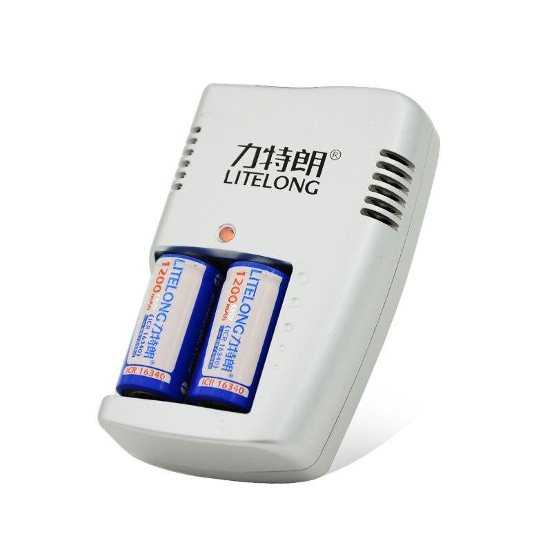 10 pièces ICR16340 CR123A CR123 CR 123 123A 1200 mah 3.7 V Batteria Al Litio + 1 pièces chargeur