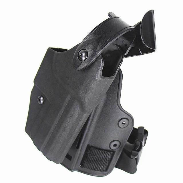 US $17 9 49% OFF|HK USP Tactical Holster Leg Platform Hunting Military  Airsoft Pistol Drop Leg Holster Adjustable Right Hand Pistol Thigh  Holster-in