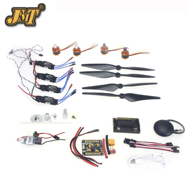 JMT 30A ESC BEC 920KV Brushless Motor Carbon Firber Propeller GPS APM2.8 Flight Control for 4-axis DIY GPS Drone 30a esc welding plug brushless electric speed control 4v 16v voltage