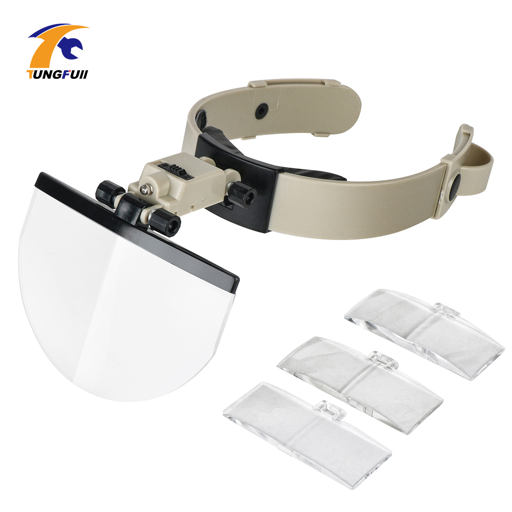 Loupe Magnifier Repair Magnifying Glass Light Glass Magnifier Led Loupe Multi Power LED Illumination Hand Headband Magnifying