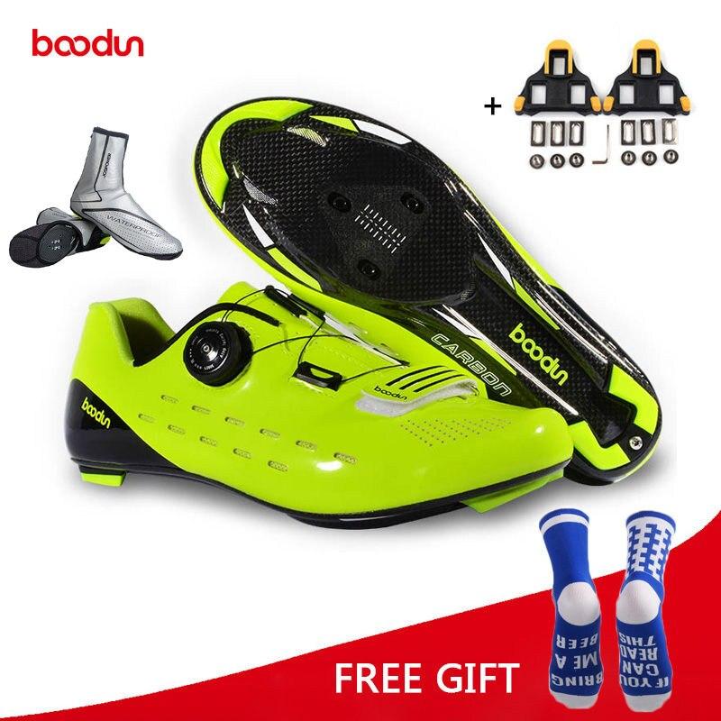 Boodun D'équitation chaussures de cyclisme Route Carbone fibre Respirant chaussures de vélo course sportive Sneakers Vélo Chaussures Zapatillas Ciclismo