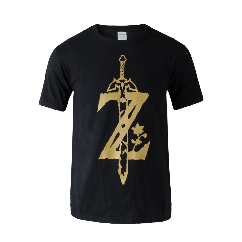 The Legend of Zelda T Shirt Men Game T-shirt Short Sleeve Cotton Casual New Printed  Men Clothing Tops Tee Cosplay Costume Tops