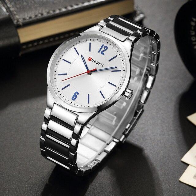 CURREN New Men Watch Top Brand Men's Fashion Gold Quartz Wrist Watches Male Stainless Steel Analog Sport Watch Relogio Masculino 2
