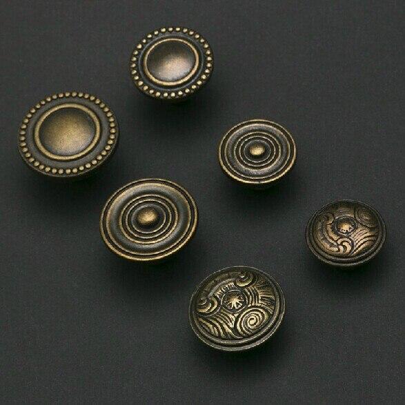 Bronze kitchen cabinet knobs Drawer pulls vintage  dresser wardrobe cupboard furniture door handles pulls knobs antique brass