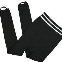 все цены на Women's Winter Warm Leggings Black Side Striped Pencil Pants High Elastic Waist One Size Leggings Solid Color Large Size онлайн