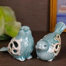 1 Pair Bird Figurines Handmade Office Decorative Sweety Lovers Household Decor Ornaments Novelty Wedding Favors недорого