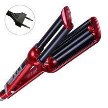 Rápido pro cerâmica triplo barril onda de cabelo ondulação curler ferro modelador ferramentas estilo do cabelo acessórios volume modelador cabelo ue