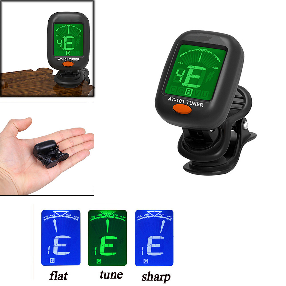 Chargers Hot Selling 360 Mini Lcd Clip Tuner Chromatic Clip-on Digital Tuner For Acoustic Electric Guitar Bass Violin Ukulele