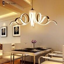 2017 Nueva 75 W pendiente Moderna luces de la sala de estar comedor de acrílico cuerpo de aluminio lámpara colgante Iluminación LLEVADA D65cm