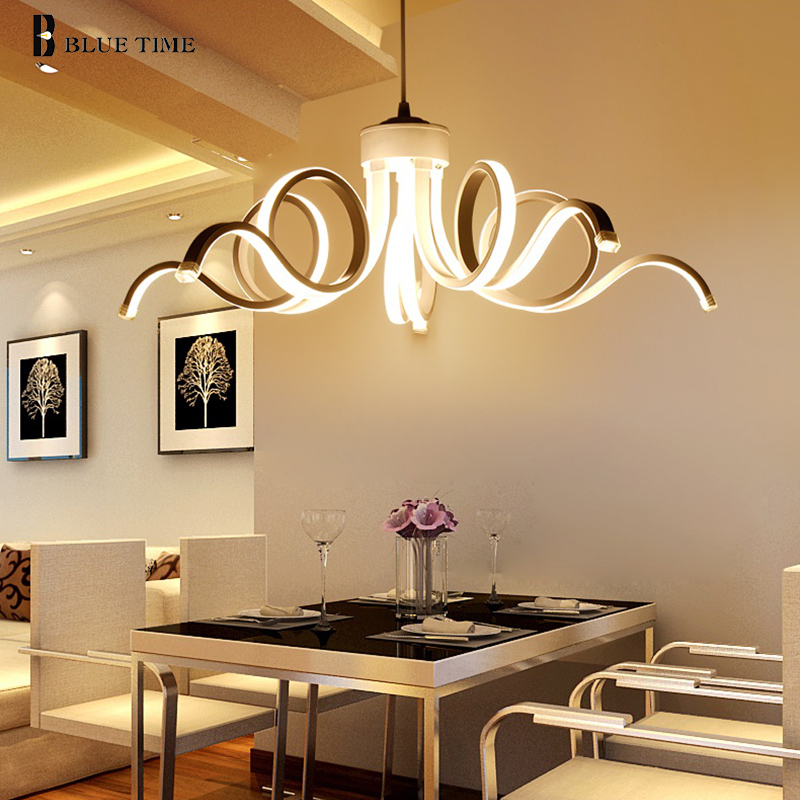 Modern Pendant Lights For Living Room Dining Room Novel Design Acrylic Aluminum Body LED Lighting Ceiling
