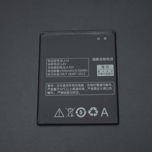 For Lenovo A880 battery 2500mAh BL219 Battery Replacement for Lenovo A880 S856 A889 A890e S810t A850+ A916 smart phone