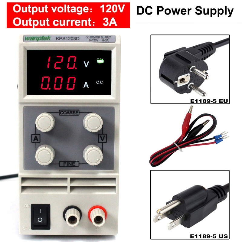 KPS1203D Mini Digital display DC Switching Power Supply 0-120V 0-3A Adjustable Bench Power Supply For Laboratory fast arrival qj12003e dc adjustable regulator laboratory power supply 0 120v 0 3a transformer resolution of 100mv 1ma