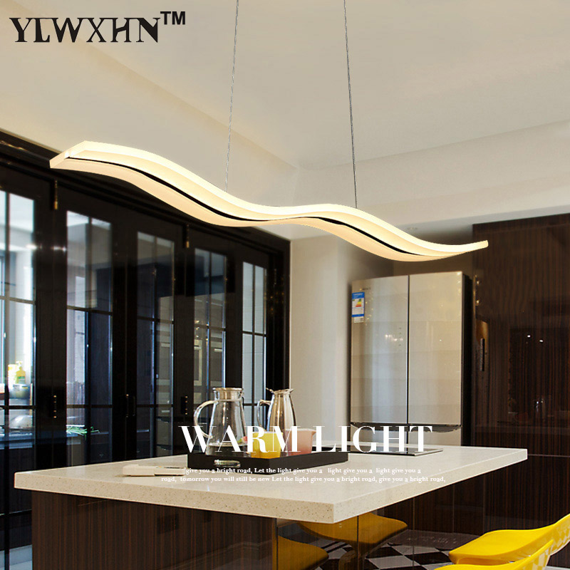 Suspension Luminaire Led Restaurant Pendant Lamp For Personality Of Modern Minimalist Acrylic Strip Dining Room Coffee Lighting wireless restaurant calling system 5pcs of waiter wrist watch pager w 20pcs of table buzzer for service