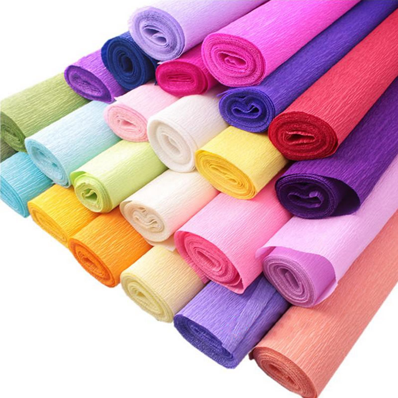 25050CM Colored Crepe Paper Roll For DIY Flowers Decoration Gift Wrapping Craft 22 Colors Available In From Home Garden On