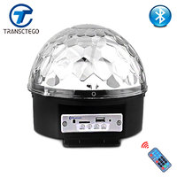 Led Bluetooth Speaker Stage Light Sound Control Stage Lamp 6 Colors Flash Lamp Wedding Magic Crystal