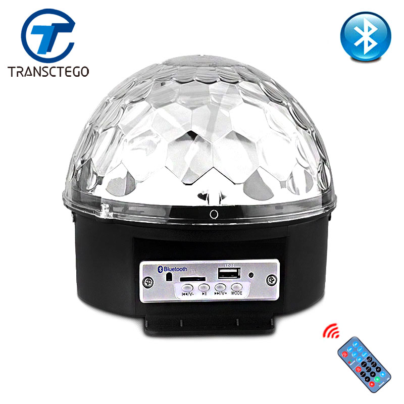 Difuzor led Bluetooth Stage Light Control control sunet Lampă scenă 9 Culori Lampa Flash Nuntă Magic Crystal Ball U transmisă pe disc