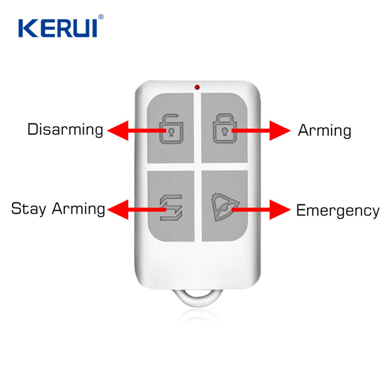 KERUI Wireless Remote Control Arm/Disarm Keychain Detector For Touch Keypad Panel GSM PSTN Home Security Burglar Alarm System wireless smoke fire detector for wireless for touch keypad panel wifi gsm home security burglar voice alarm system