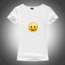 Summer slim style cute kawaii font b smiley b font emoji 2016 women sublimation ink print.jpg 250x250