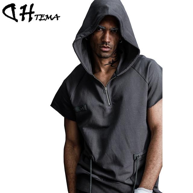 timeless design b3adb bfc17 Hip Hop Felpe Moda Uomo Maniche Dhtema Con Giacche Corte ...