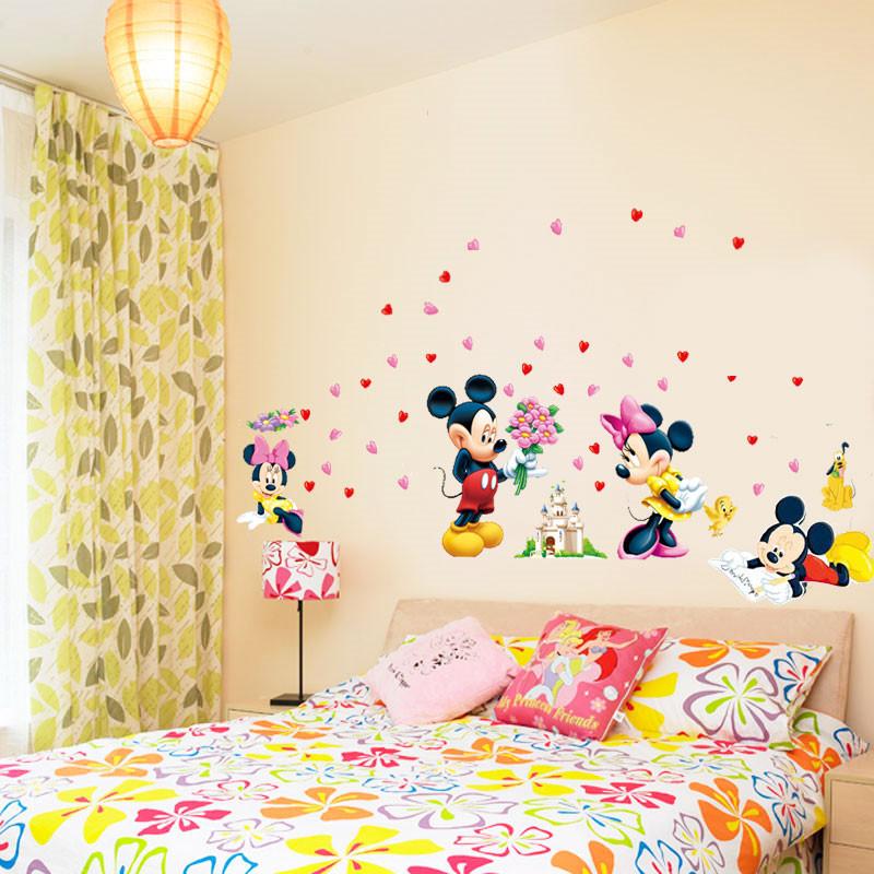 HTB1.1qrKpXXXXbsaXXXq6xXFXXX7 - Cartoon Mickey Minnie Mouse wall sticker for kids room