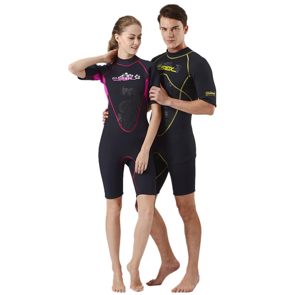 One Piece Diving Wetsuits 2018 Men Women 3MM Neoprene Diving Suit Short Sleeve Swimwear Spearfishing Surf Scuba Swimsuit цена
