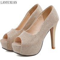 Plus Big Size 34 45 New 2016 Women Pumps Sexy High Heels Shoes Woman Party Designer