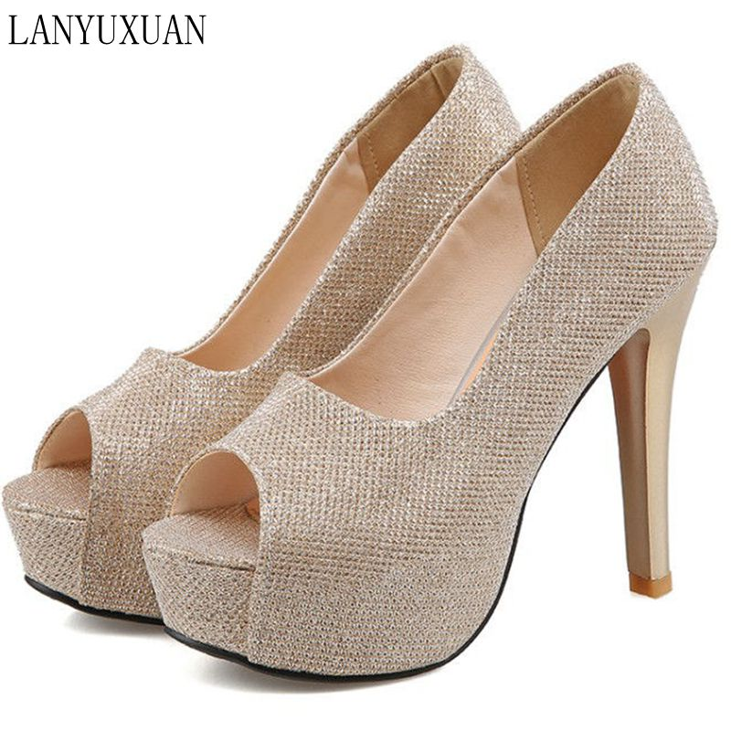 Plus Big Size 34-45 New 2017 Women Pumps Sexy High Heels Shoes Woman Party Designer Wedding Shoes Peep Toe Sandals T8745 brand new women platform sandals t strap rivets high heels wedding shoes woman peep toe gladiator women luxury big size shoes
