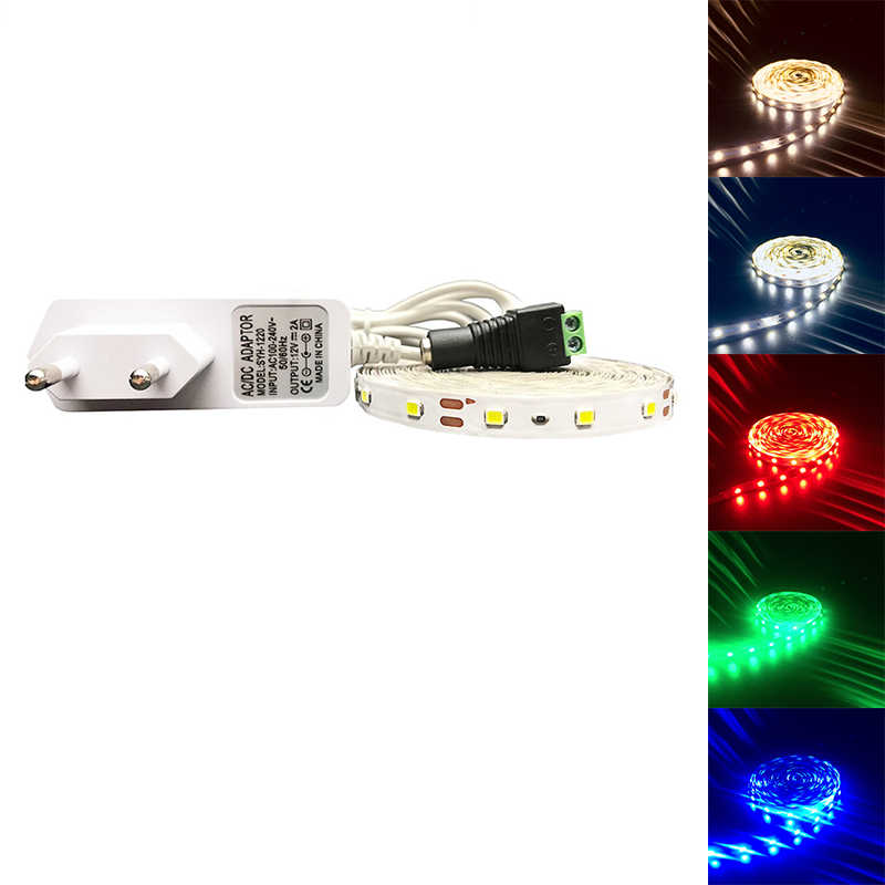 5M 300 LED Tahan Air RGB LED Strip Light 3528 DC12V 60 LED/M Fiexble Lampu LED Ribbon Tape dekorasi Rumah Lampu