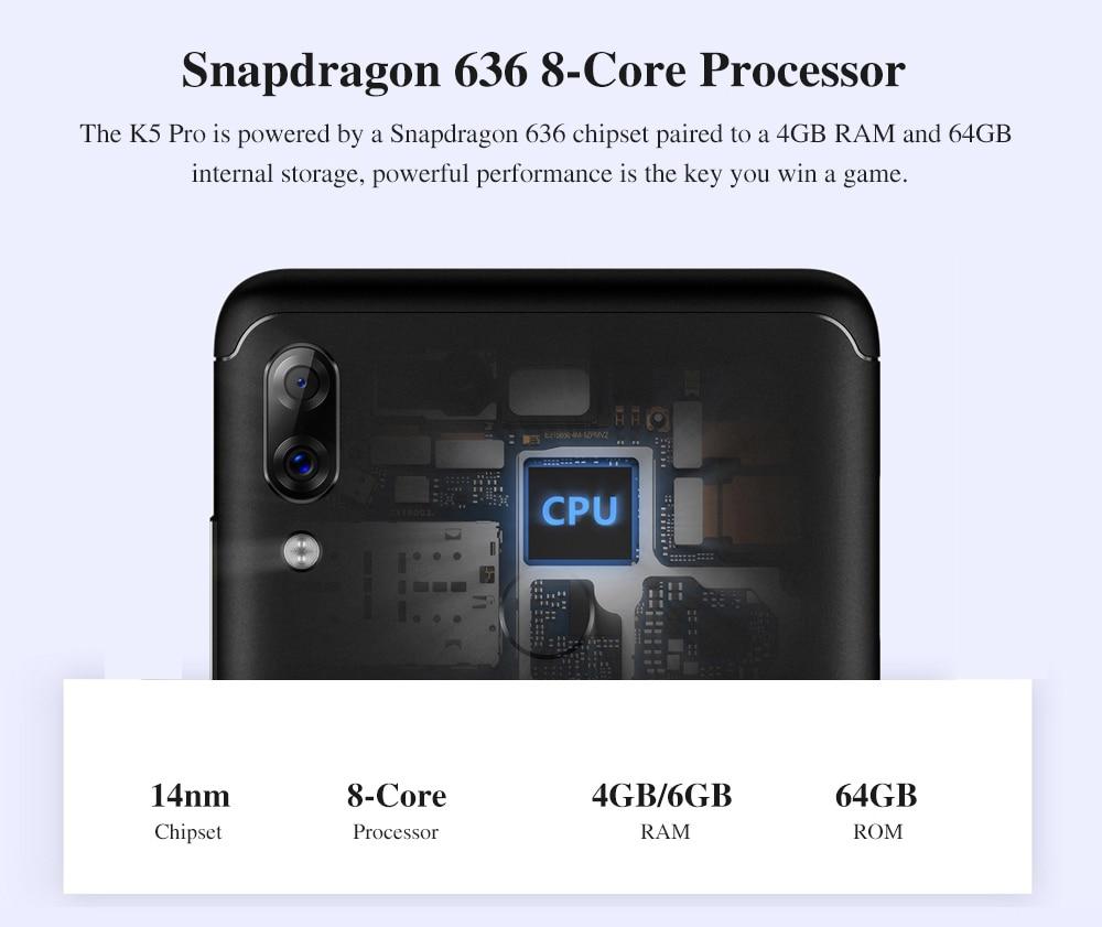 Global Version Lenovo K5 Pro 4GB 64GB Snapdragon636 Octa Core Smartphone Four Cameras 5.99inch 189  4G LTE Phones 4050mAh (2)
