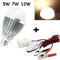 E27 Dc Ac 12v LED Light Bulb Solar Battery Lamp for Motor Home Marine Dc Battery Solar Fishing Lamp