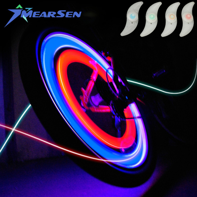 1 PC Willow LED Super Bright Bicycle Wheel Signal Tire Spoke Light Bike Accessories for Motorcycle Cycling Sports Bike Lights