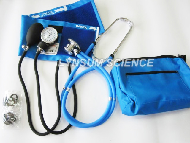 Blood Pressure Monitor Cuff with Double Head Stethoscope Kit Arm Sphygmomanometer Pouch