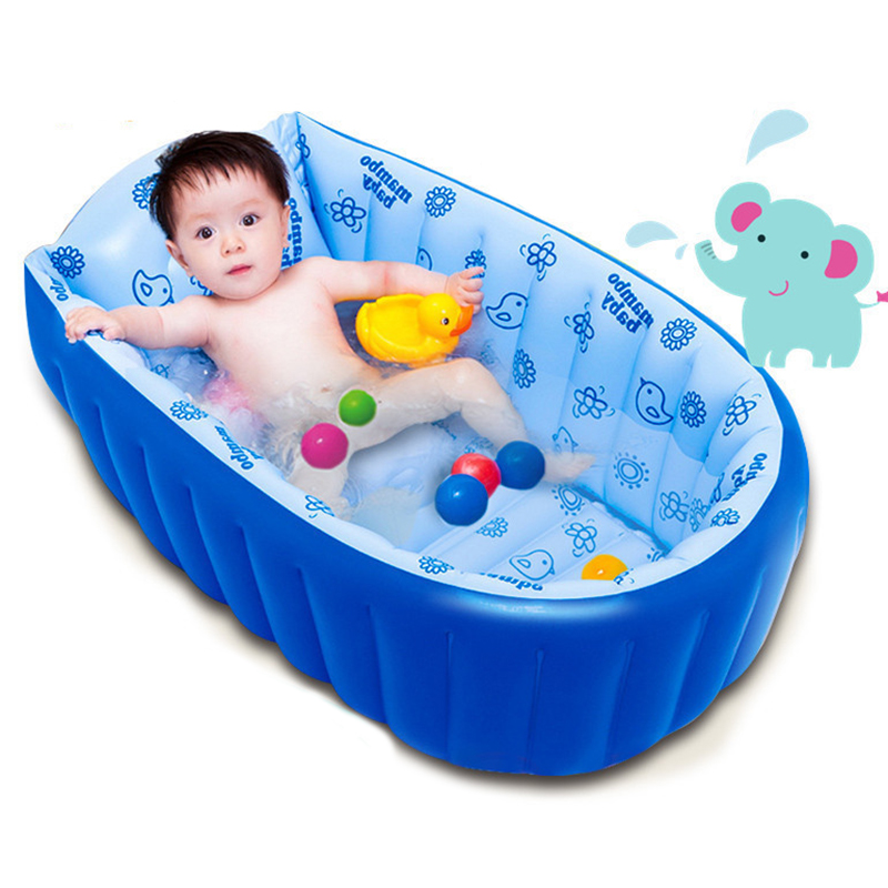Portable Inflatable Baby Bath Kids Bathtub Children Tub Baby Swimming Pool Folding Washbowl P5 commercial sea inflatable blue water slide with pool and arch for kids