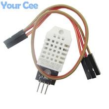 5 sztuk DHT22 cyfrowy czujnik temperatury i wilgotności AM2302 moduł PCB z kablem