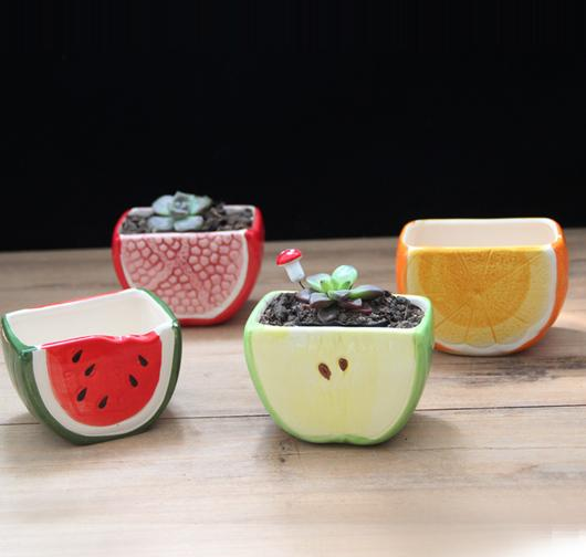 2pcs/lot Creative ceramics Flowerpot Cartoon animal shape Garden ...