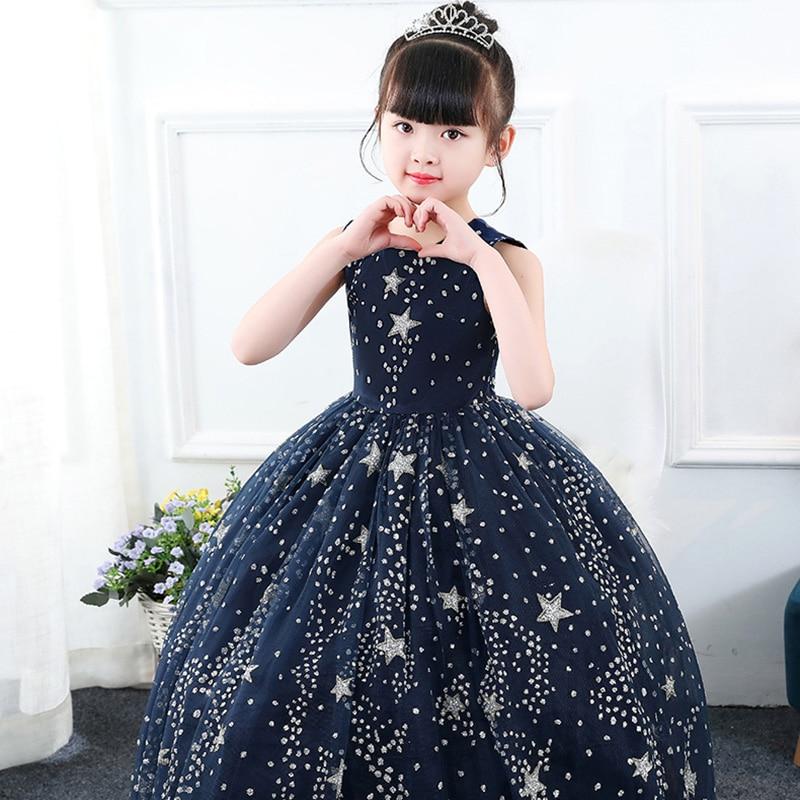 9315ca811230 Elegant Girls Sequin Star Princess Dresses christmas Kids Party Pageant  Evening dress for big girl Clothing5. sku  32953324181