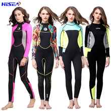 Hisea Women 3mm Neoprene High quality Wetsuit Thermal Scuba Diving Spearfishing One piece Wetsuits Surfing Slim Full Bodysuit - DISCOUNT ITEM  33% OFF Sports & Entertainment