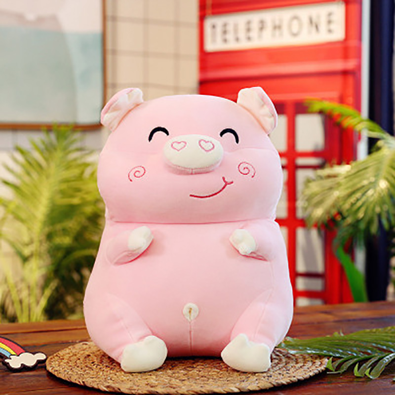 1PCS Plush Doll Cute Animal Pig Figure Toys 3 Colors Available Pillow Lovely As Sleeping Toy Pillow  Present