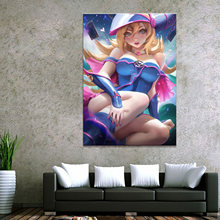 1 Panel Japan Anime Yu-Gi-Oh! Sexy Magic Girl Canvas Printed Painting Living Room Wall Decor Picture Poster Wholesale(China)