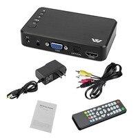 Mini Portable HDD Players Full HD 1920x1080 HDMI VGA AV USB Hard Disk U Disk SD/SDHC/MMC card latest F10 Multimedia Player