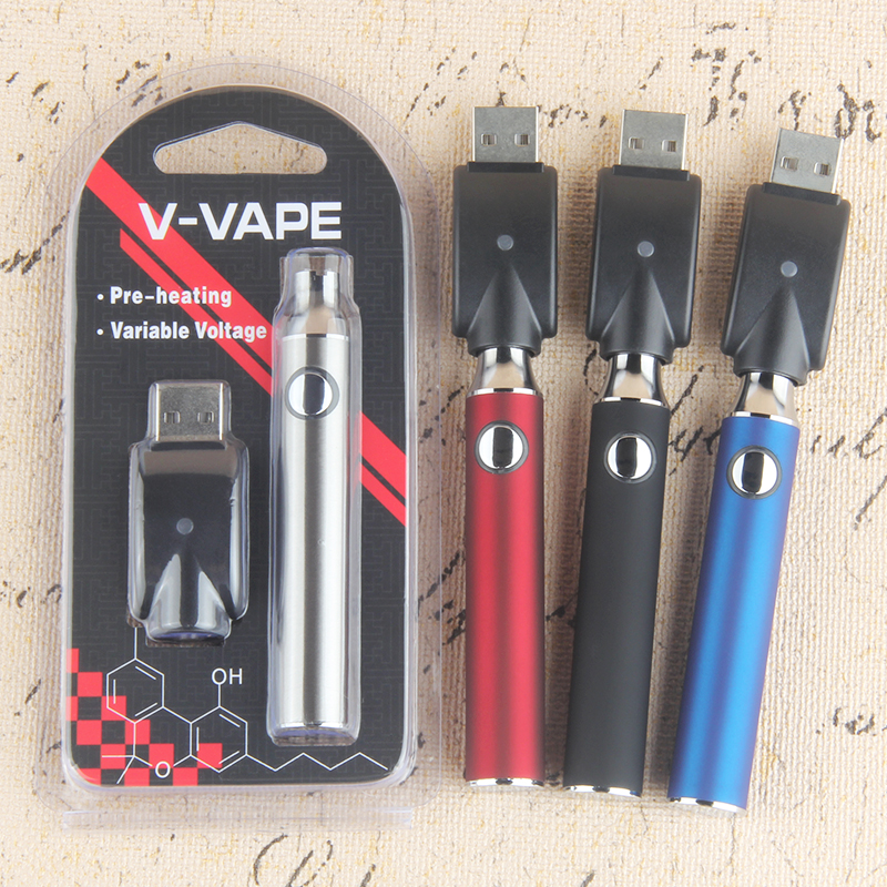 510 Thread Preheat Battery Electronic Cigarette Newest 650mAh Evod Preheating Battery for Vape CBD Cartridge Vaporizer Vape Kit